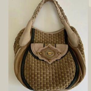 Isabella Fiore Handbag Toscana Rania Woven Leather